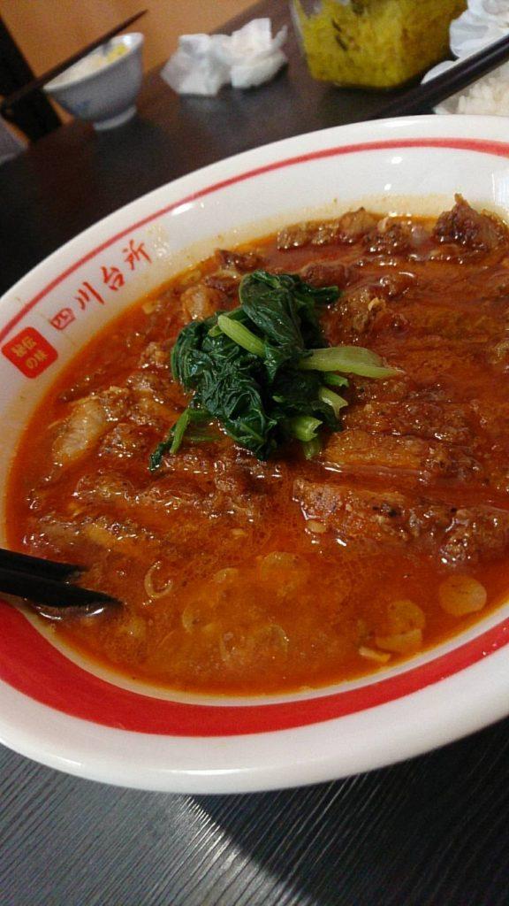四川台所 排骨担々麺(ぱいこう担々麺)