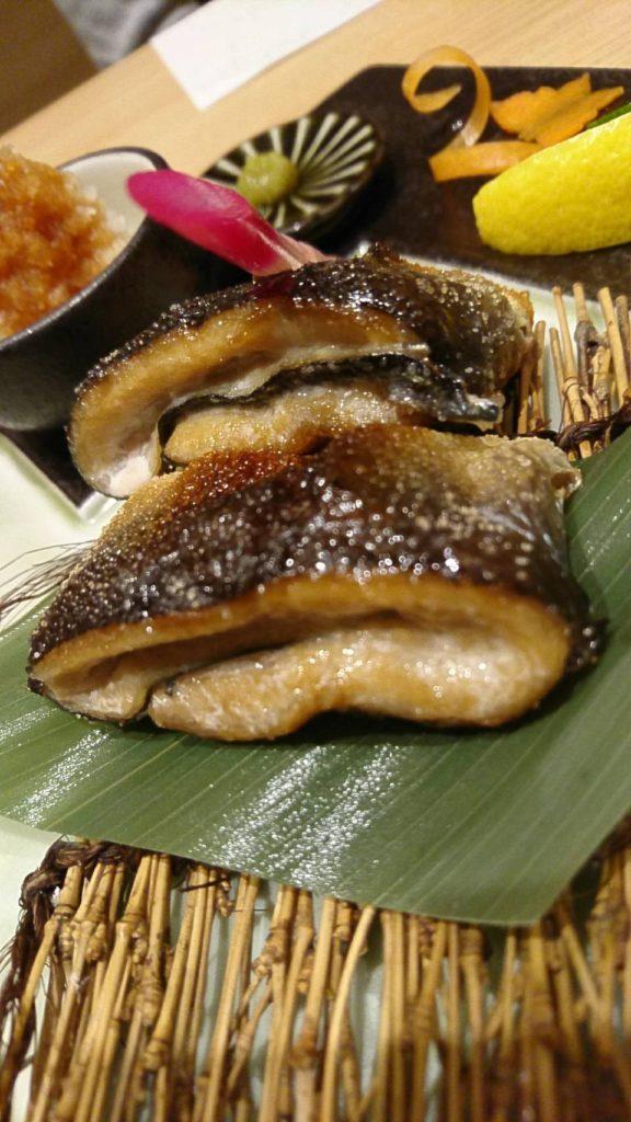 蕎麦 大石 秋刀魚塩焼き