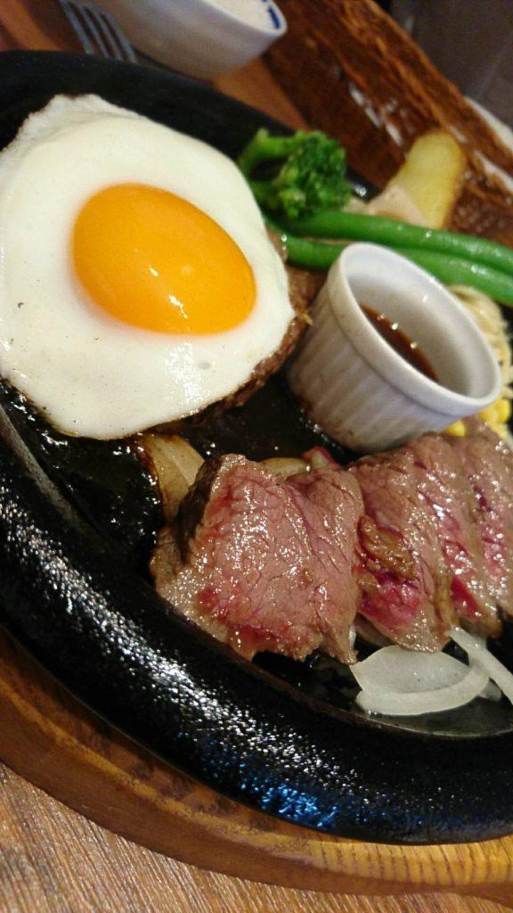 肉食堂 ランチ(ハンバーグ&赤肉内もも)