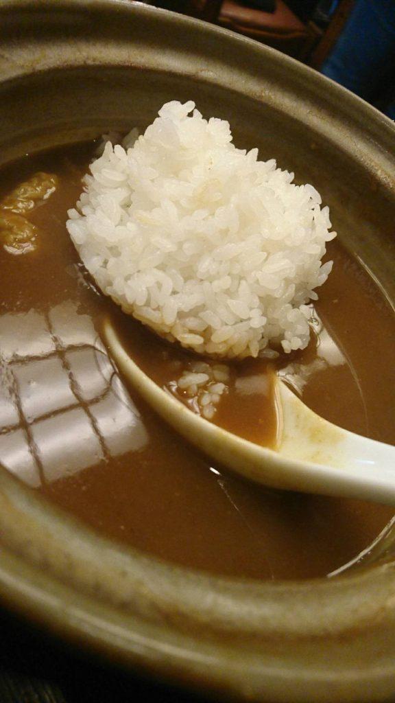 味噌煮込みうどんの角丸 (カレー煮込みうどん)