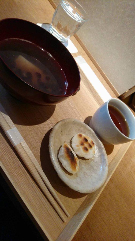 祇園NITI(ニチ) 北海道大納言のおぜんざい かき餅添え