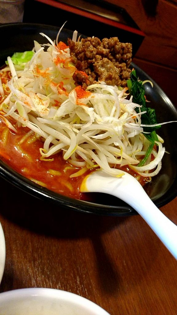 餃子set (野菜担々麺)