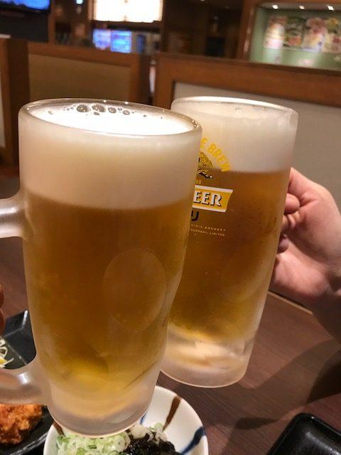 定番の乾杯!