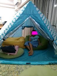 自宅でテント